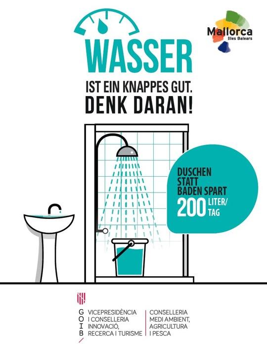 Die Balearen setzen sich für Wassereinsparung ein